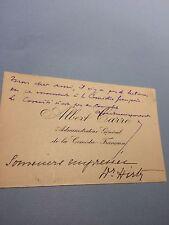 Albert Carré Comédie française directeur carte de visite autographe 1914