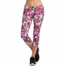 Movement by Pink Lotus Women's Bloom Garden Chevron Printed Capri