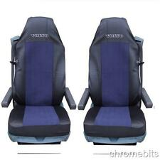 2/PAIR BLUE FABRIC TAILORED SEAT COVERS FOR VOLVO TRUCKS FH12 FH 16 FL FM FH16