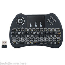 H9 Mini Hand-held Wireless QWERTY Keyboard Air Mouse Combo with Backlight