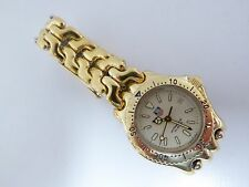 Tag Heuer Ladies Watch S94.015 Professional 200 meter gold plated Near Mint Cond