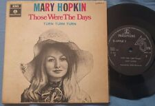 "MARY HOPKIN Those Were the Days ISRAEL 7"" SILVER PARLOPHONE ERROR PAUL MCCARTNEY"