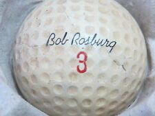 (1) BOB ROSBURG SIGNATURE LOGO GOLF BALL (CIR 1963 #3) MADE IN USA