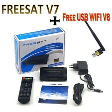 Freesat V7 1080P HD Satellite TV Receiver DVBS2 Set Top Tv Box+ V8 Free USB Wifi