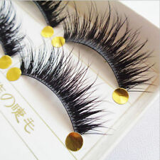 5Pairs Natural Handmade Cross Black Long Makeup Eye lash False Eyelashes Hot UK