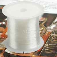 60m/Roll 0.5mm Crystal Cord String Wire Beading Craft Thread or as Fishing Line