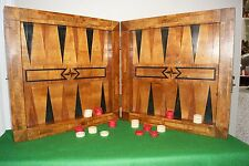 1800's South German Chess/Backgammon/Muhle board,antique with draughts