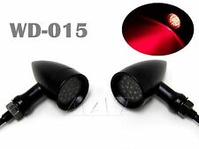 Custom RED LED Motorcycle Turn Signal Brake Stop Running Tail lights Bullet