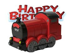 Resin Train Shaped Cake Topper & Happy Birthday Sign