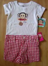 Paul Frank Cookie Monkey Top Red Check Shorts Outfit Set NWT 4T $32