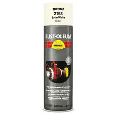 X2 industrial rust-oleum blanc satiné aérosol spray paint hard hat 500ml ral 9010