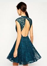 Stunning *COAST* Laura Lace Dress Teal (size Uk 14). BNWT