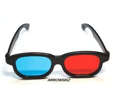 3D Glasses Polarized Plastic Lenses 3D TV Cinema Movies Games Red & Blue Flat