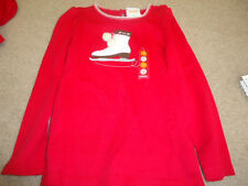 Gymboree Girl's Ice Skating Red Shirt 5 - NWT