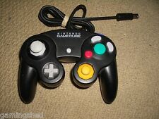 NINTENDO GAMECUBE OFFICIAL CONTROLLER Black Genuine Game Pad Control GamePad Wii