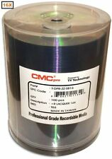 100-Pack CMC PRO (Powered by TY Technology) 16X SHINY-SILVER DVD-R's in shrink