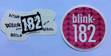 BLINK 182 2-Pack of Stickers Logos/Hearts NEW OFFICIAL MERCHANDISE RRP$10.70 !!!