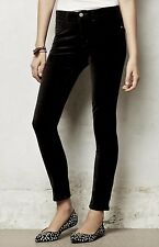 NEW Anthropologie Pilcro black Velvet Stretch Serif Legging Jeans 26