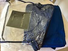 RARE VINTAGE RALPH LAUREN HOME ASHBY COBALT BLUE 100% SILK QUEEN BEDSKIRT~NIP