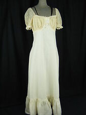 Vtg 1972 GUNNE SAX BY JESSICA Ivory Lace Hippie Wedding Dress-Bust 33-35/XS-S