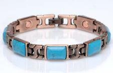 NEW COPPER MAGNETIC TURQUOISE LINK BRACELET  womens STYLE#TQ-R  jewelry health