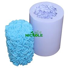 Nicole Silicone Candle Mould Rose Flower Decorative Silicone Soap Candle Molds