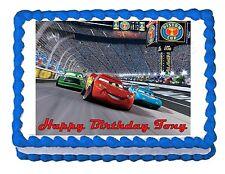 Lightning McQueen Cars edible cake image cake topper