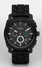 Fossil Watch * FS4487 Machine Chronograph Black Silicone for Men COD PayPal