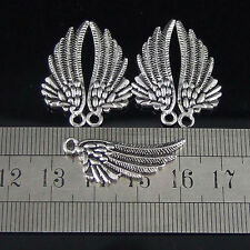 50x Crafts Beads Jewelry Making Pearls Charms Classical Wing Beads For Bracelet