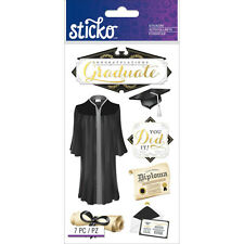 Scrapbooking Stickers Sticko Crafts Congratulations Graduate Graduation Gown Cap