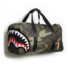 Sprayground Chenille Woodland Shark Duffle Bag