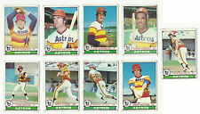VINTAGE 1979 TOPPS BASEBALL CARDS – HOUSTON ASTROS – MLB