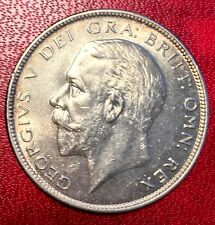 1928 Great British (UK) Half Crown Coin 0.2223 Silver - George 5th