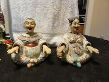 Pair Of OLD Chinese Nodder Doll Figurines - No Damage & Very Rare Set