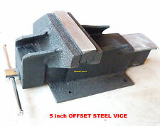 OFFSET VICE 5 inch WIDE JAWS ALL STEEL CONSTRUCTION - NEW IN BOX