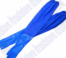 Extra Long Cuff Arm Protection Plastic Work Gloves Oil Resistant