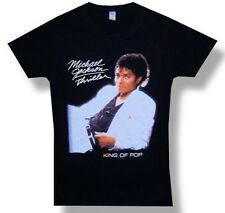 Michael Jackson-Thriller Cover-Medium Black  Girl's Junior Lightweight T-shirt