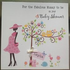 Personalised Handmade Card BABY SHOWER ** MUM TO BE  Butterfly Tree