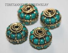 Nepal beads 4 Nepalese Beads Tibet Beads handmade beads turquoise beads B180