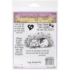 New Our Daily Bread Cling Mounted Rubber Stamp Set DOG Sympathy free usa ship