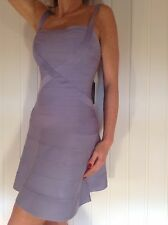 BNWT HERVE LEGER FAITH NOVELTY ESSENTIALS Dress Size S RRP £1194