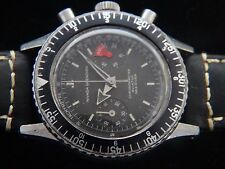 VTGE RARE EARLY NIVADA GRENCHEN VAL 92 TROPICAL DIAL BROAD ARROW CHRONOGRAPH. 60