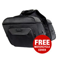 MotoCentric Cruiser Slanted Saddlebags Motorcycle Luggage