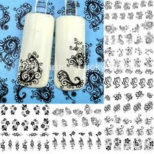 12 sheets black pattern water transfer nail art decoration sticker decals 589600