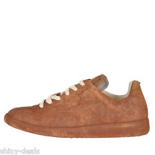 MAISON MARTIN MARGIELA 22 REPLICA Nw Man Brown Leather Lace Low SneakersShoes 40