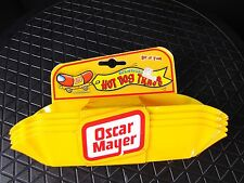 Oscar Mayer Wiener Hot Dog Tray Holders Set of 4 Yellow Plastic Kraft Foods RARE