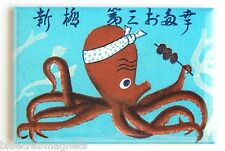 Octopus Chef FRIDGE MAGNET (2 x 3 inches) japanese advertisement sushi sign