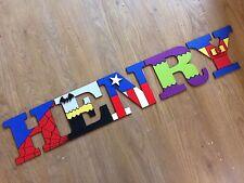 Lettres en bois Superhero sticker... Prix par lettre