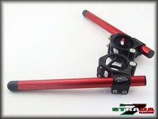 Strada 7 Racing CNC Clip On Handle Bars Honda CBR1000RR / RC51 50mm Red