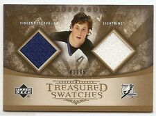 05/06 UD ARTIFACTS TREASURED SWATCHES DUAL JERSEY #TSDVL Vincent Lecavalier /65